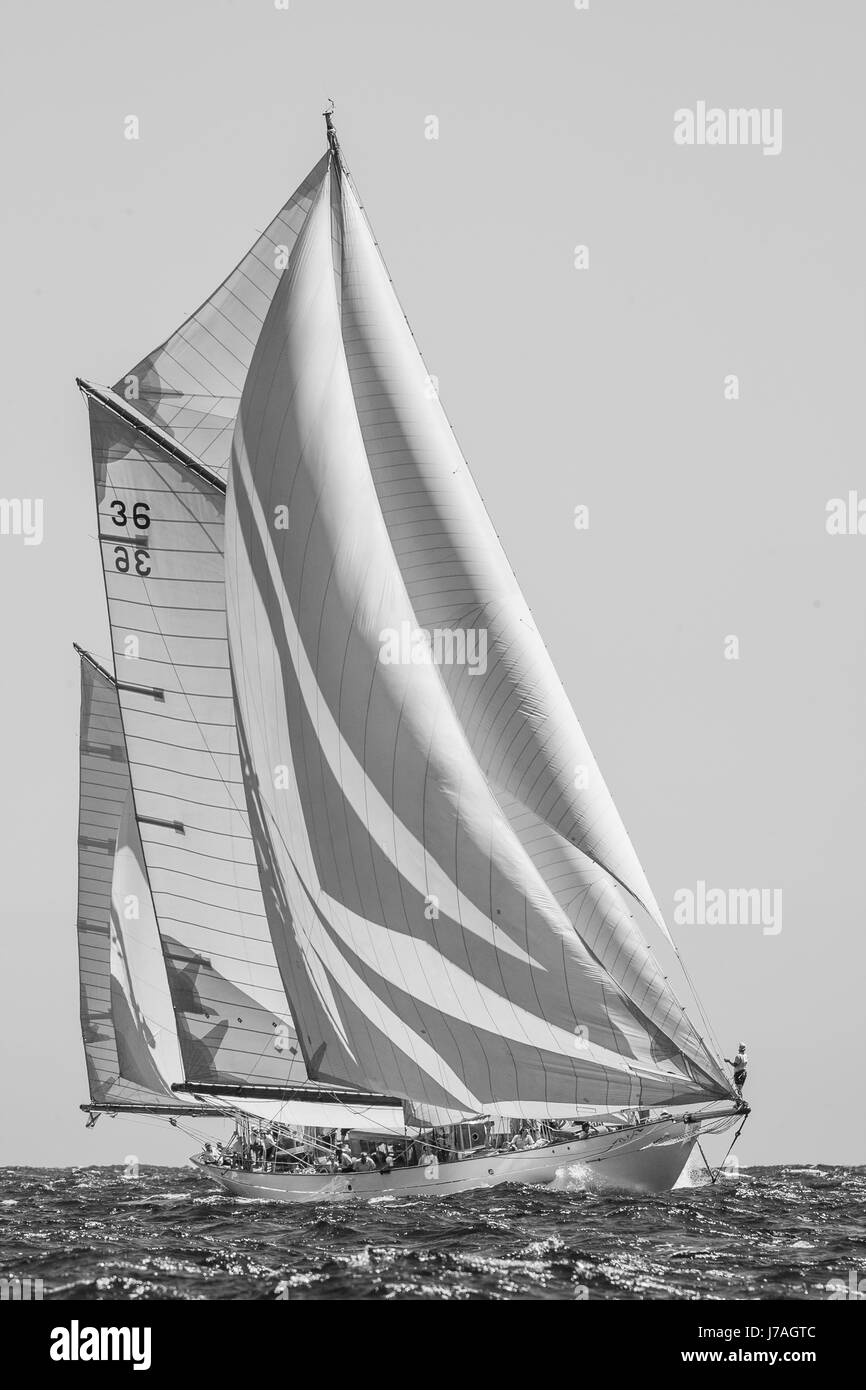 The classic boat Thendara - Stock Image
