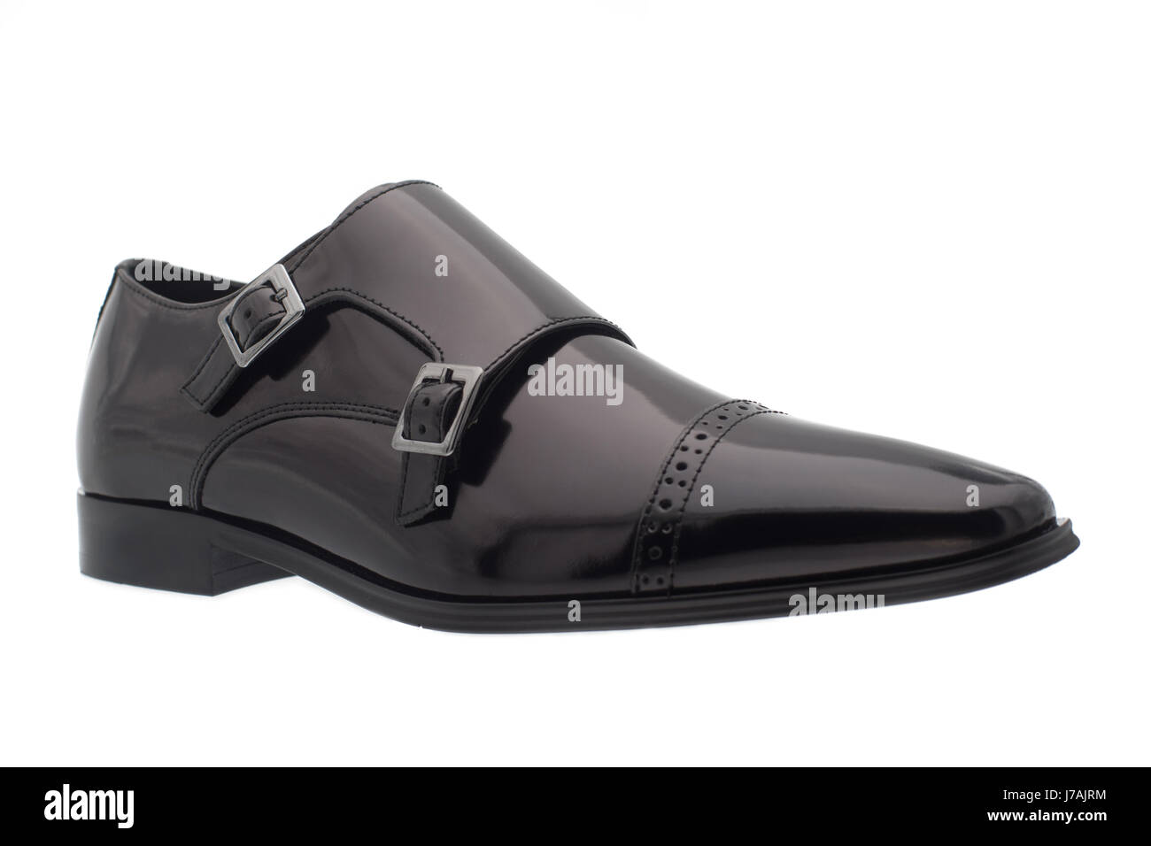 Black men's shoes - Stock Image