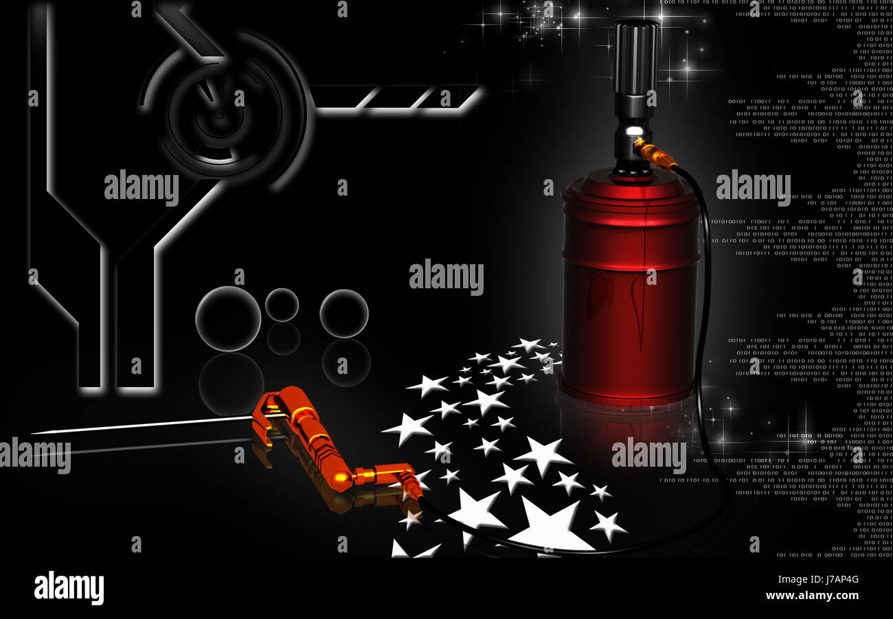 Quotdigital Illustration Of Air Grease Pump In Colour