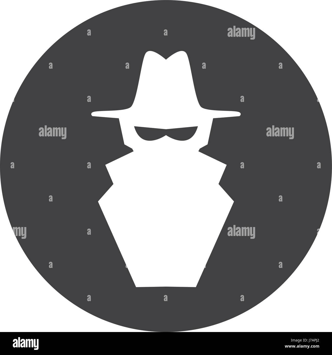Hacker cartoon symbol Stock Vector