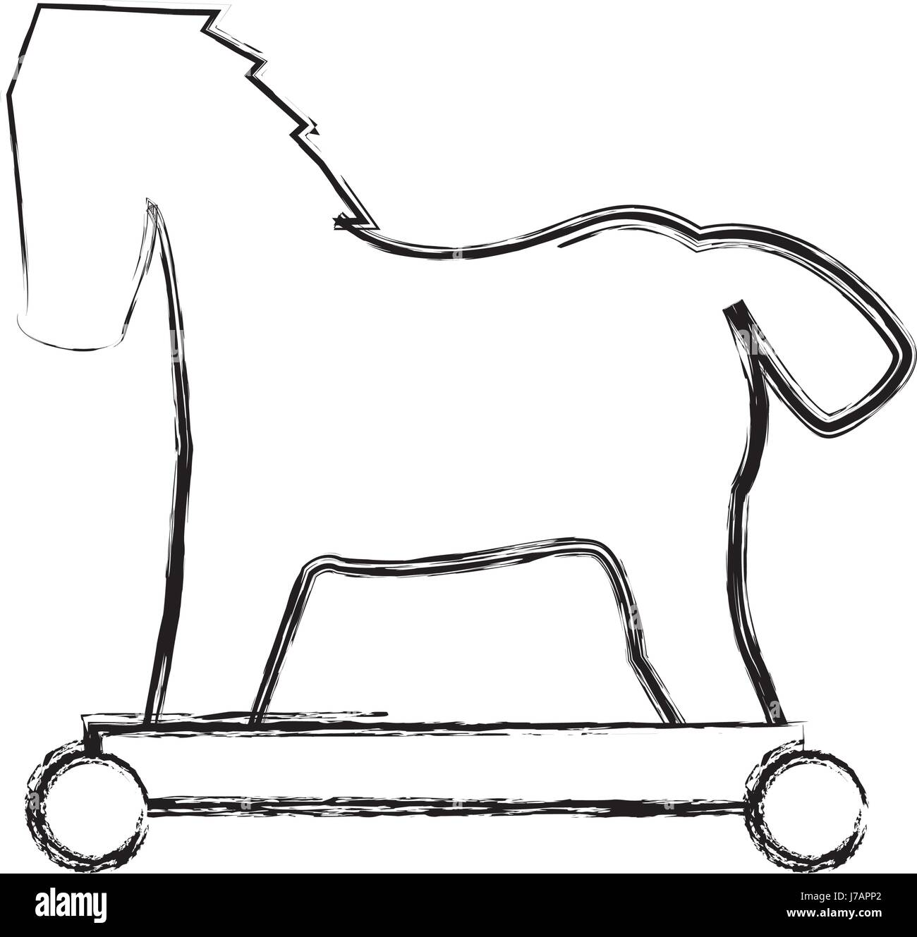 Trojan Horse Black And White Stock Photos Images Alamy