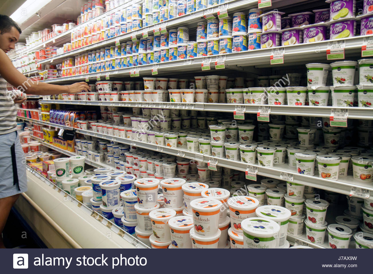 Miami Beach Florida Publix grocery store supermarket food business retail display for sale competing brands shopping - Stock Image