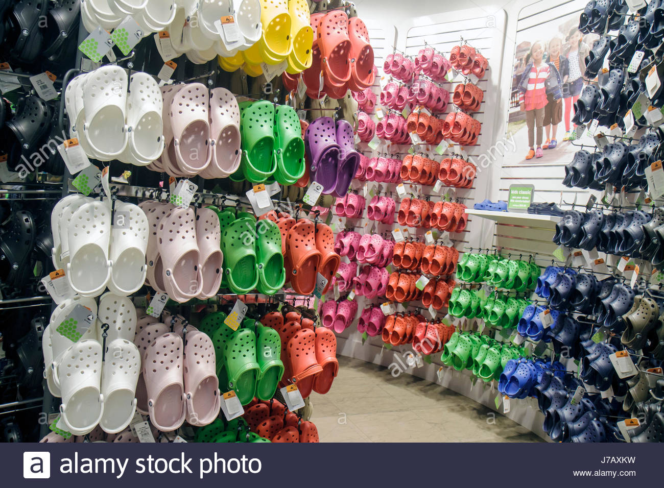 67965ea8b1c1 Miami Florida Aventura Mall shopping retail display for sale Crocs shoes  fashion store