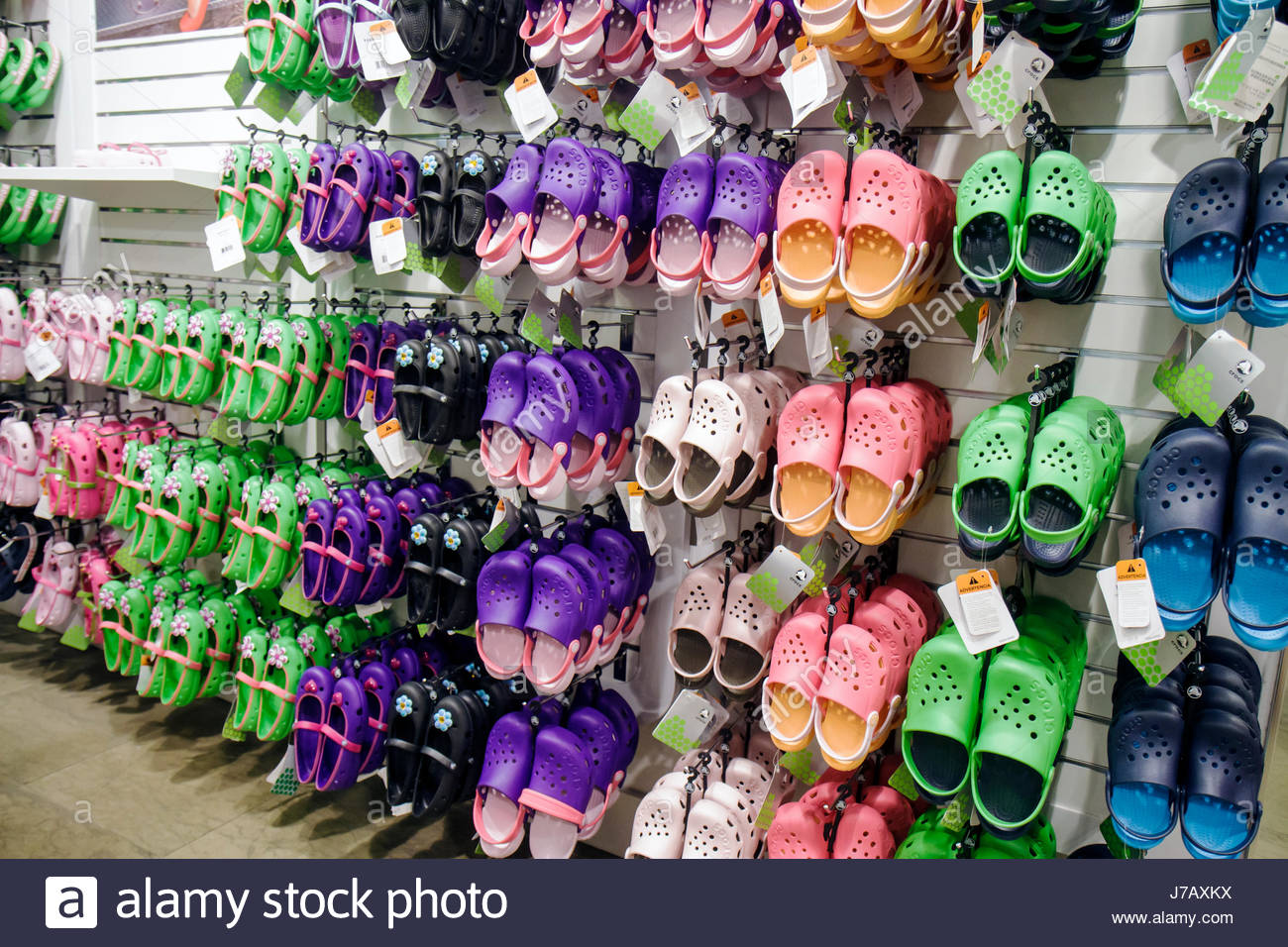 af1b66a4d Miami Florida Aventura Mall shopping retail display for sale Crocs shoes  fashion store