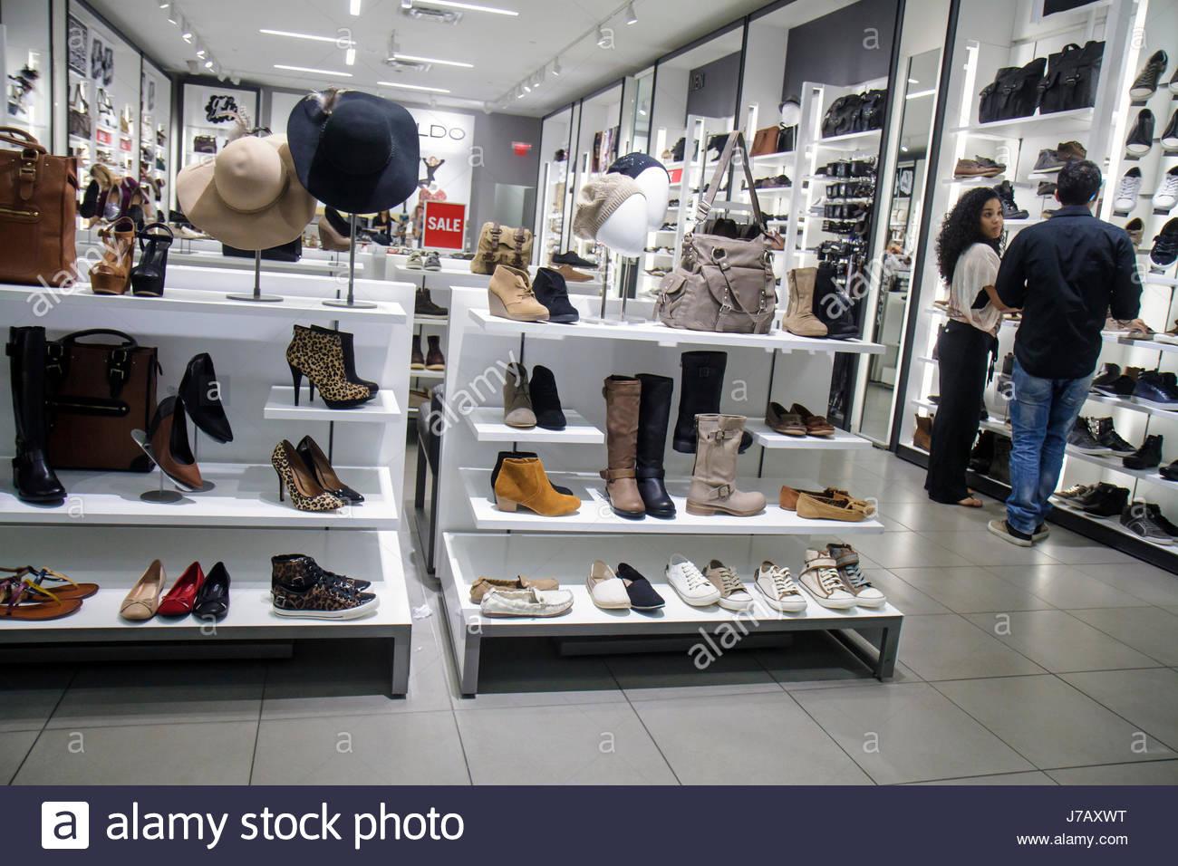 3e7c8632ccaa Miami Florida Dadeland Mall shopping retail display for sale Aldo Shoes  women s handbags hats boots