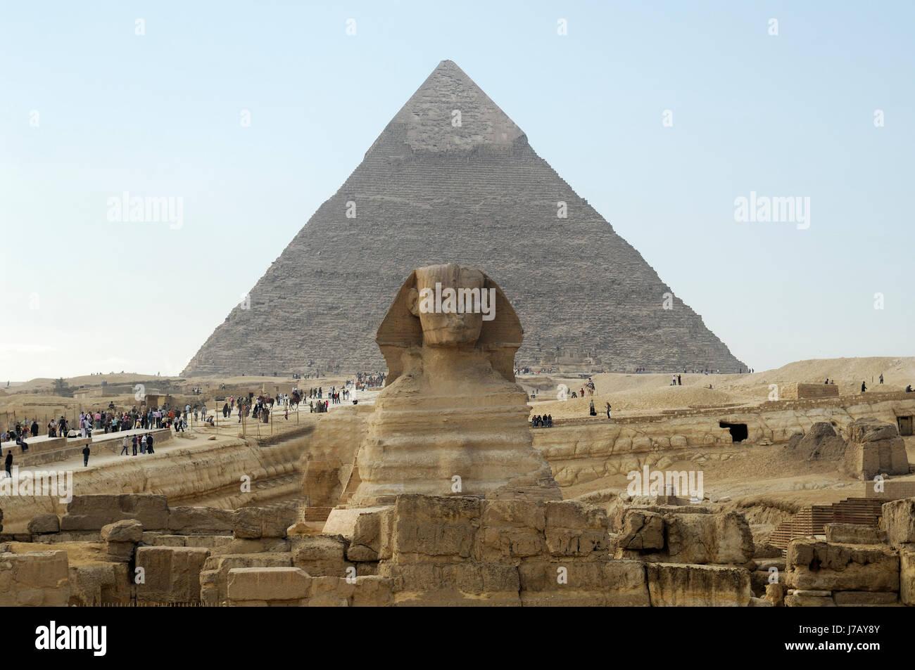 sphinx gizeh pyramide gypten landmark afrika afrikaner sphinx gizeh pyramide - Stock Image
