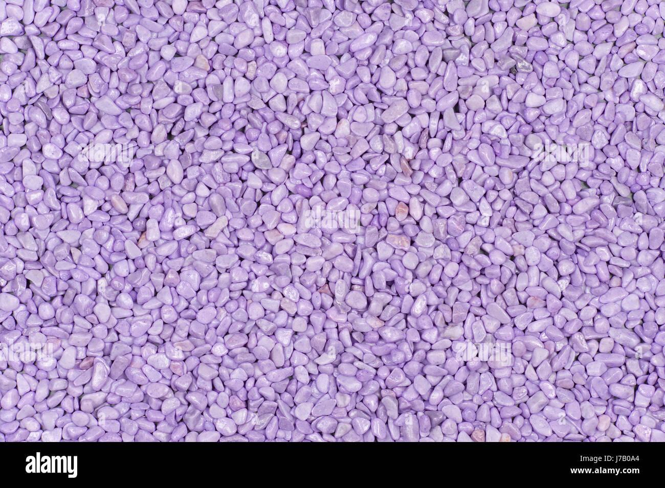 gravel purple surface minerals description field structure backdrop background - Stock Image