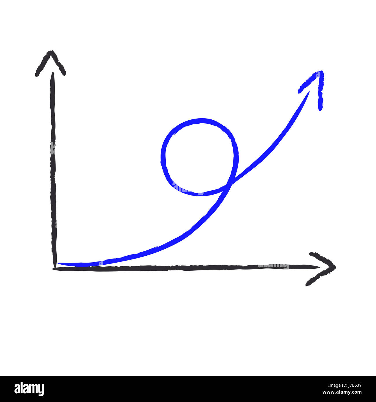 abstracts chart - the upturn Stock Photo