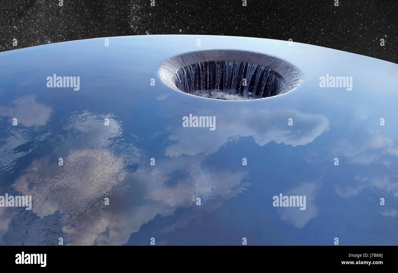 Concept Photo Of Global Destruction - Stock Image