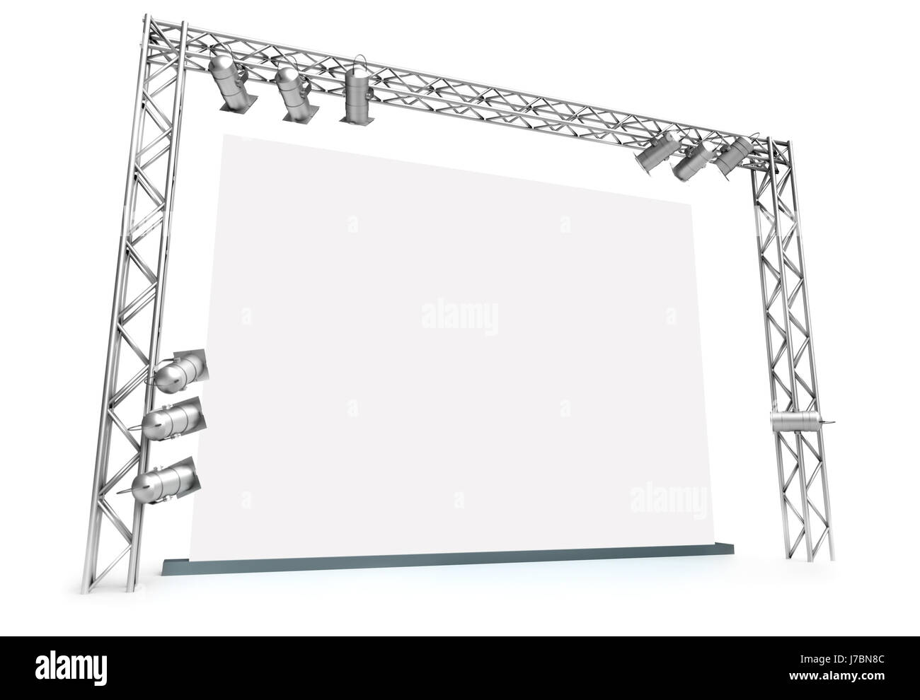 blank european caucasian poster screen uninhabited banner advertisement - Stock Image