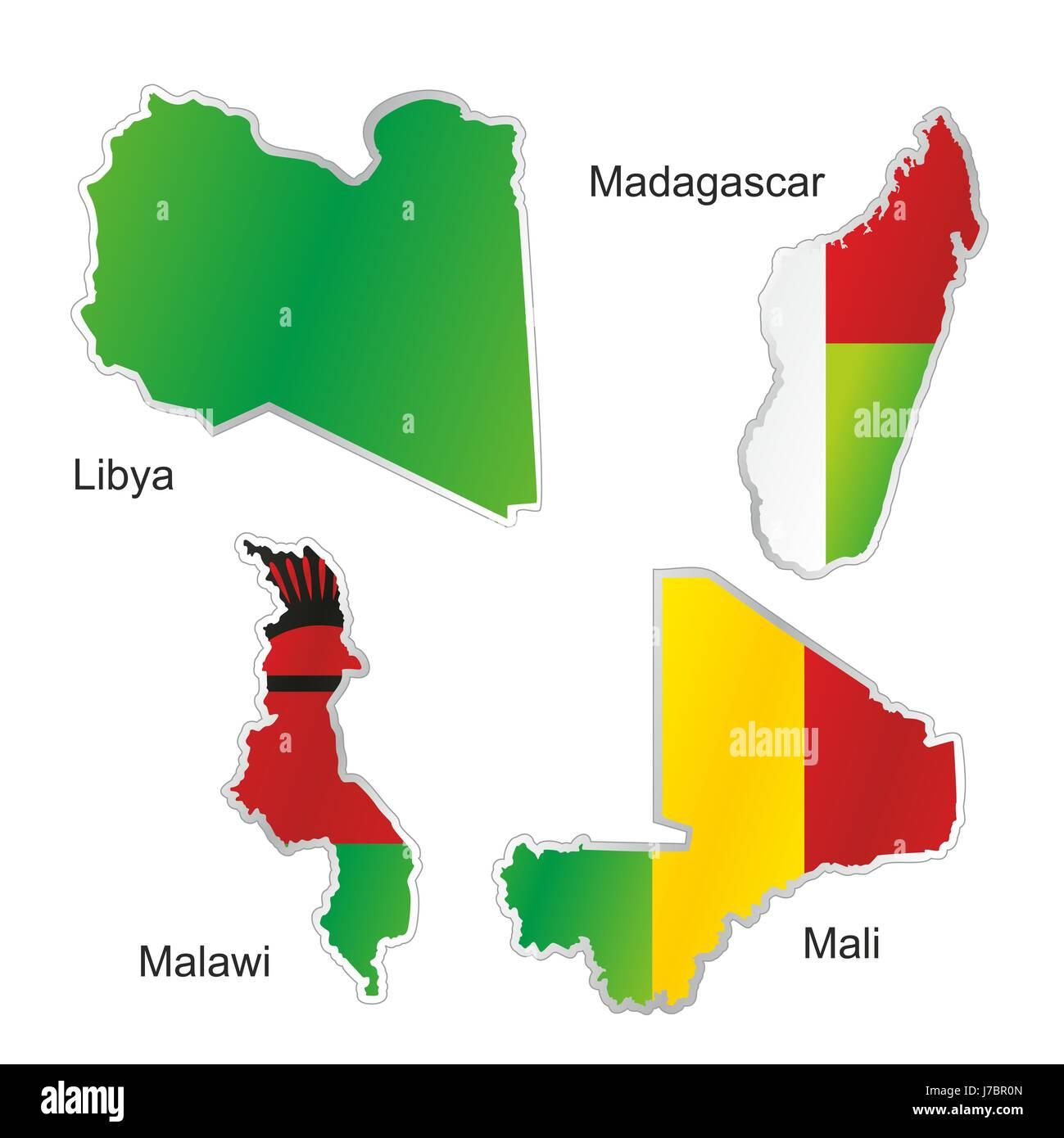 Africa libya flag mali madagascar malawi map atlas map of the world africa libya flag mali madagascar malawi map atlas map of the world isolated gumiabroncs Image collections