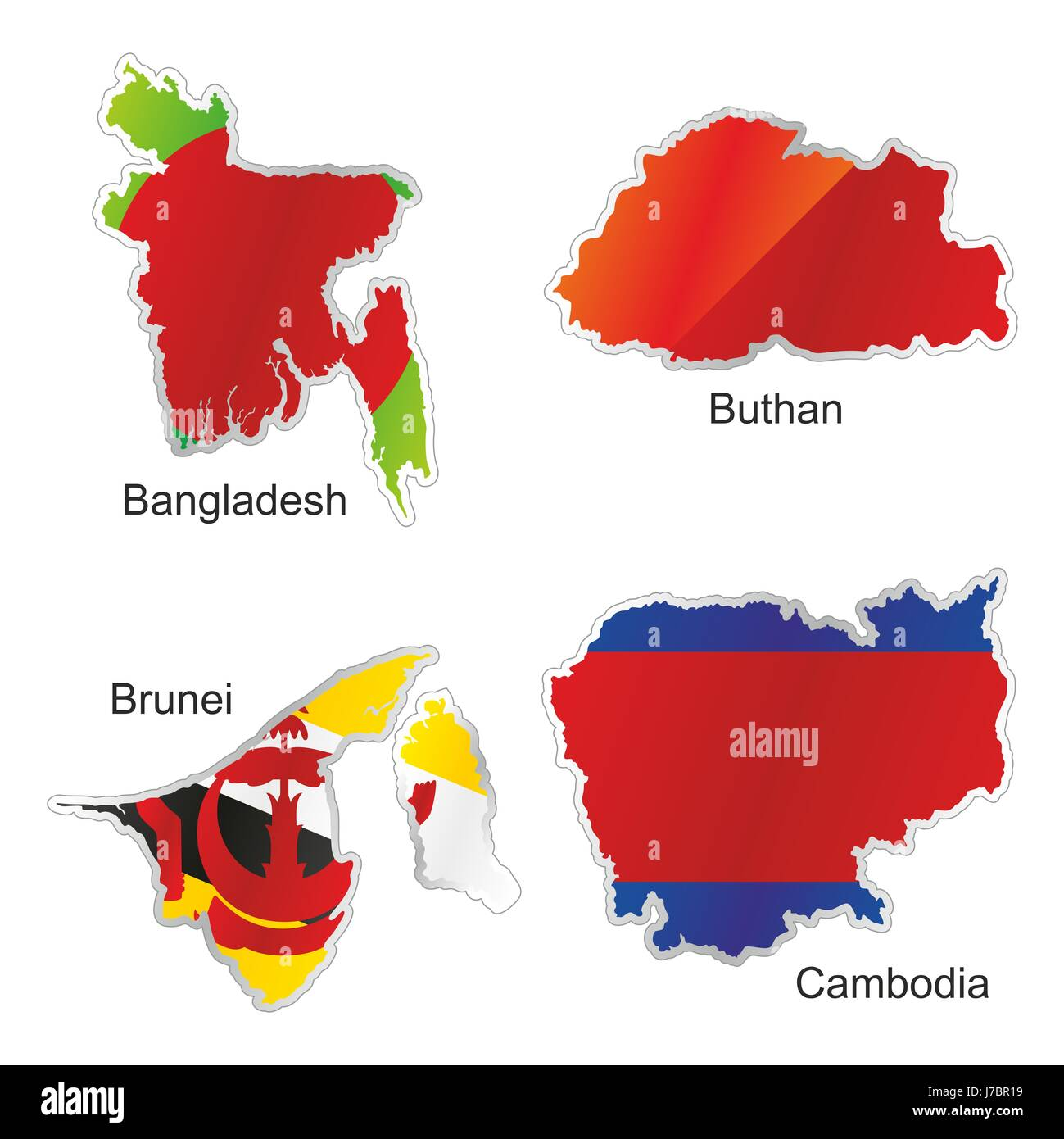 Map Of Asia Brunei.Asia Flag Cambodia Bangladesh Brunei Map Atlas Map Of The World