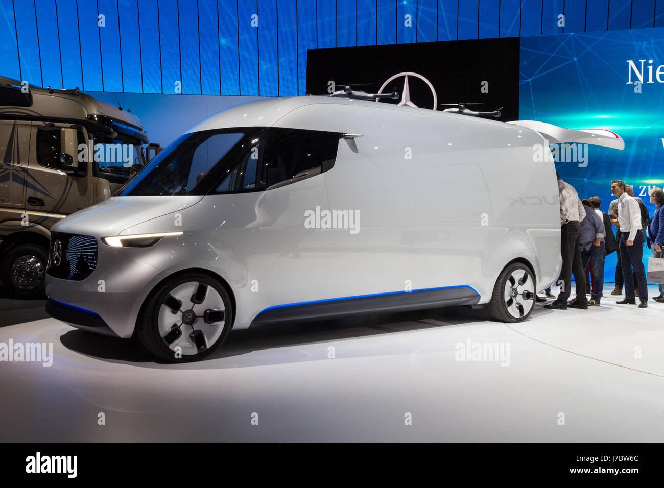 HANNOVER, GERMANY - SEP 21, 2016: Mercedes Benz Vision Van concept ...