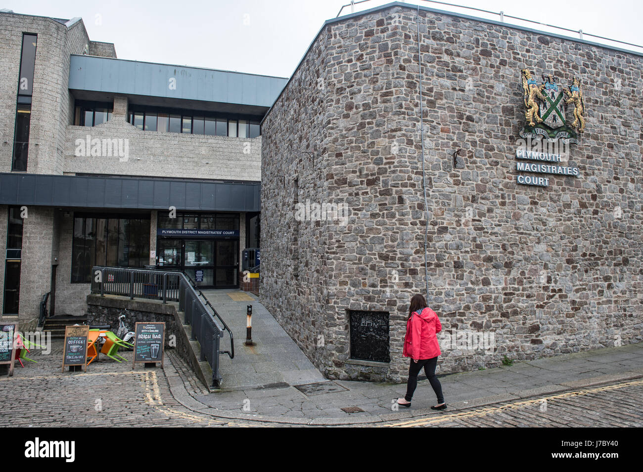 Copyrighted Image by Paul Slater/PSI - Plymouth Magistrates Court. Devon UK. - Stock Image