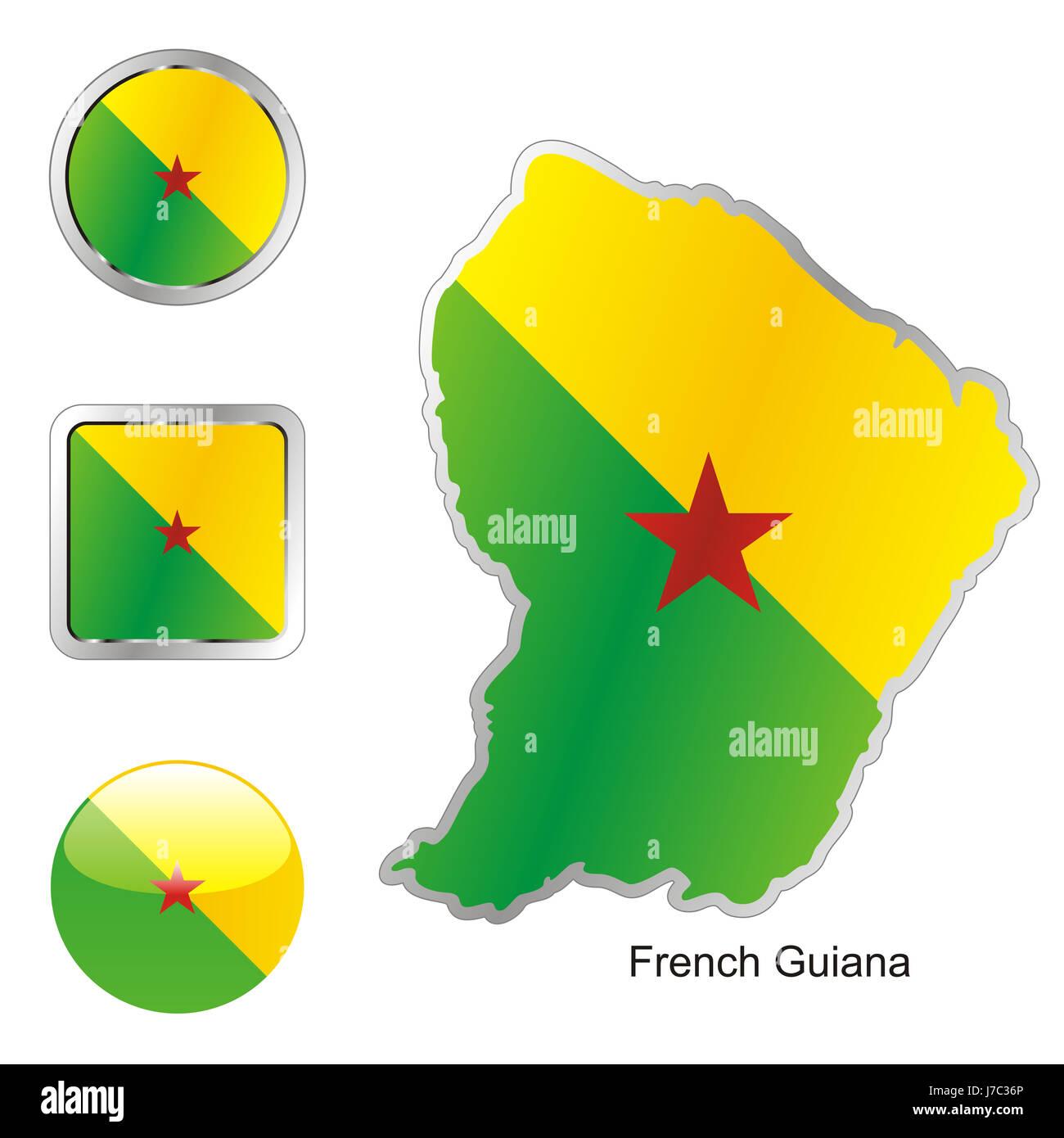 america illustration flag button french travel colour emblem america - Stock Image