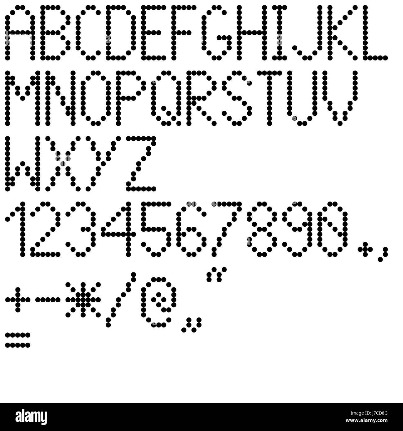 Sign Signal Letters Symbols Numerics Count Alphabet Abc Numbers Dots