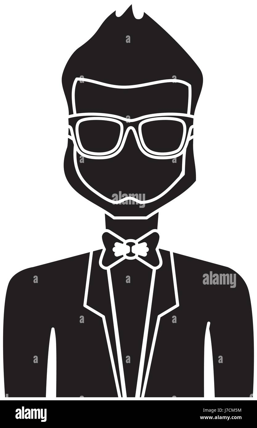 man with suit and tie icon Stock Vector Art \u0026 Illustration