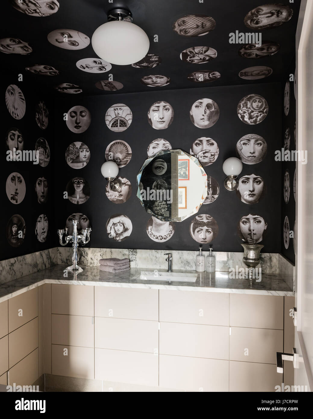 fornasetti wallpaper. Black Bedroom Furniture Sets. Home Design Ideas