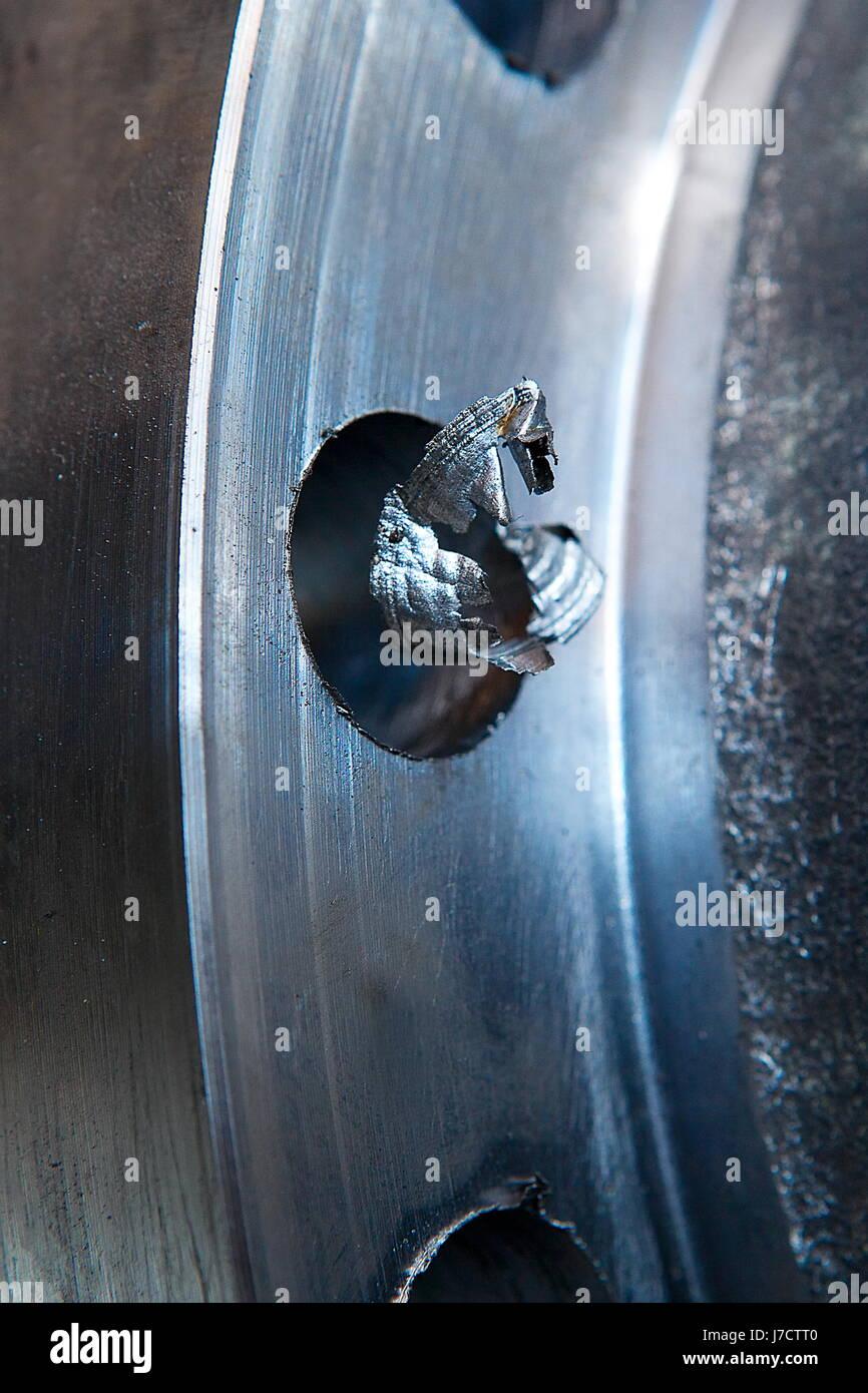 Splinter on whole edge - Stock Image