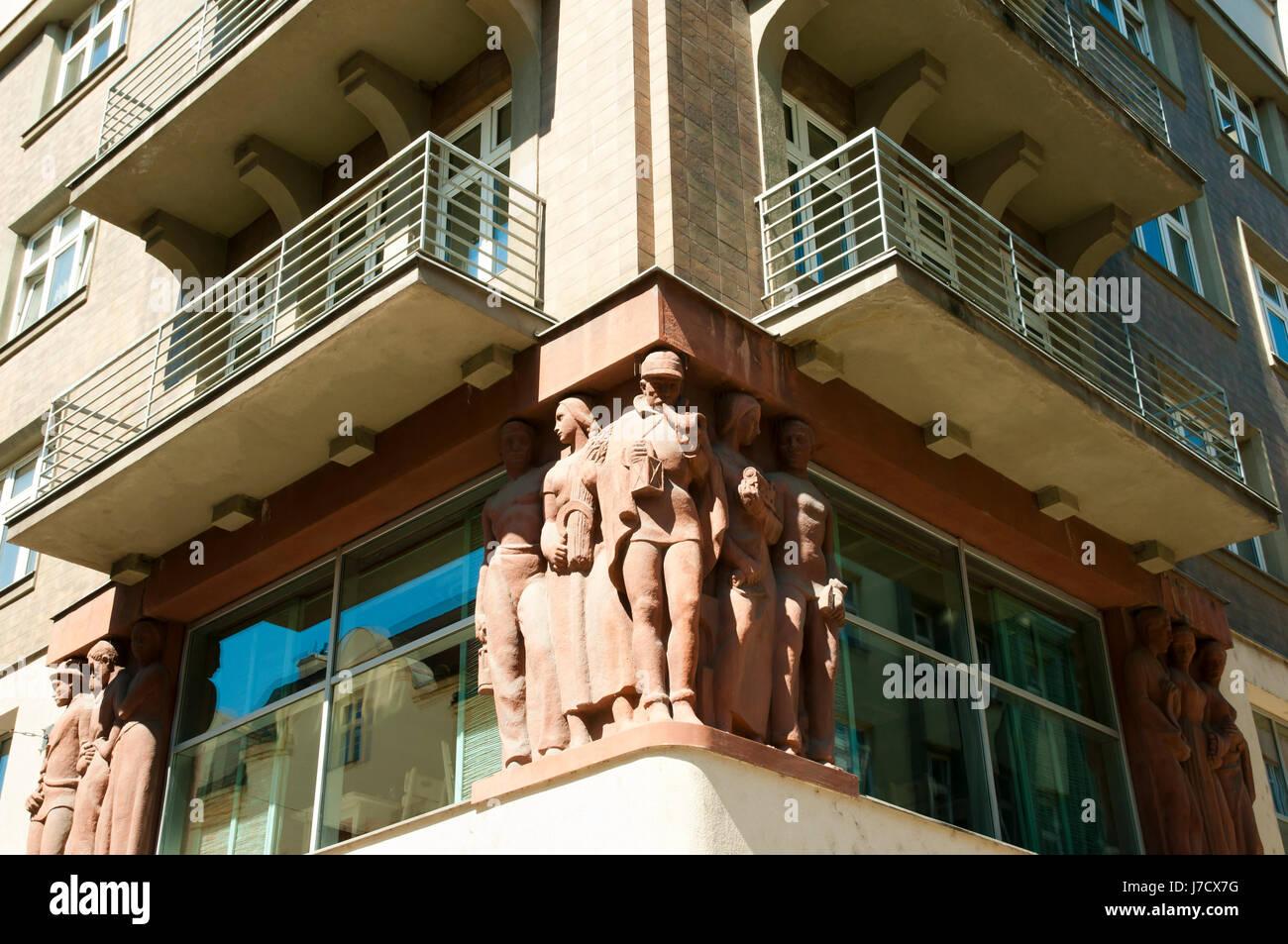 Building Facade - Ostrava - Czech Republic - Stock Image