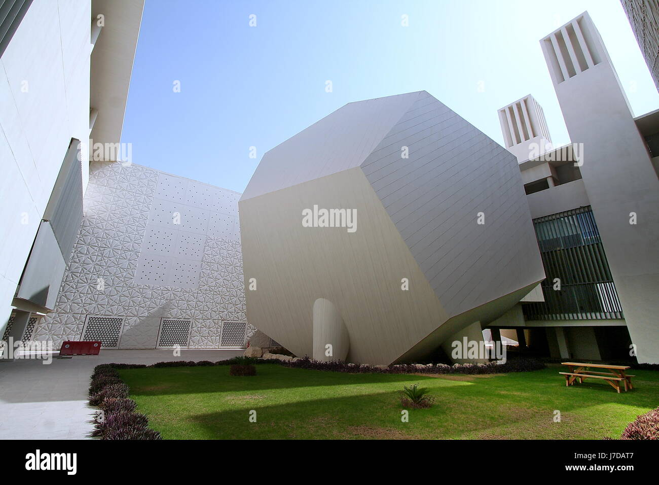 Courtyard With Icosahedron Lecture Hall Of Weill Cornell Medical College In Education City Doha Qatar