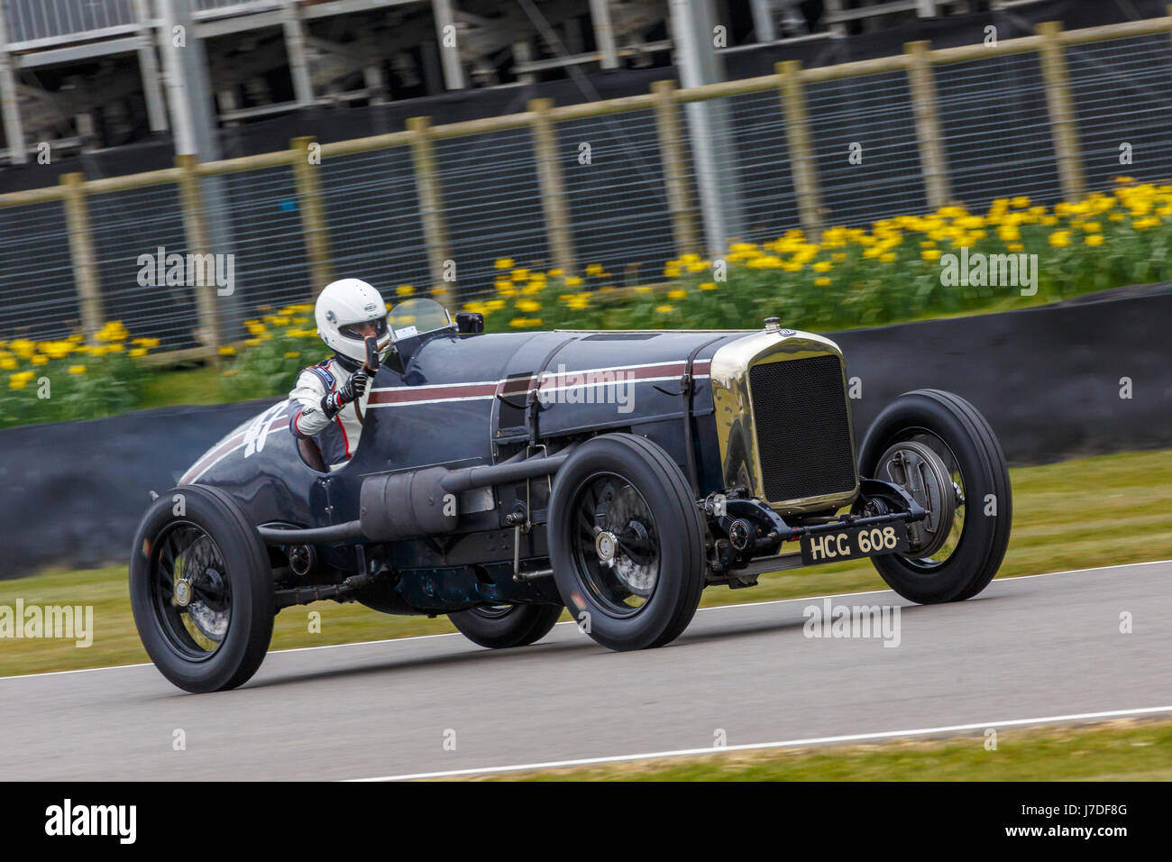 1923 Delage DHV12 with driver Mathias Sielecki during the S.F. Edge Trophy race at the Goodwood GRRC 74th Members - Stock Image
