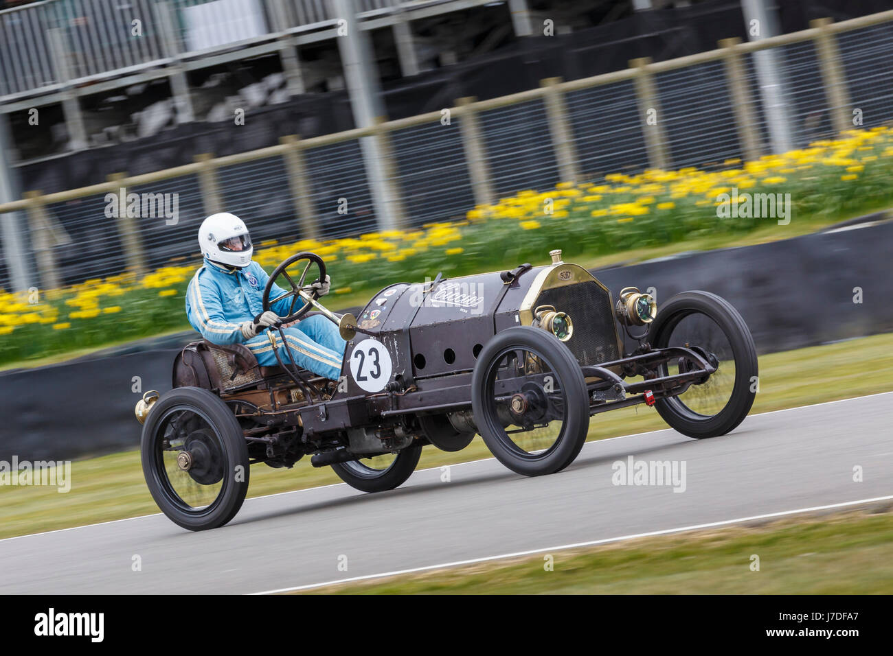 1911 SCAT Type C Racer Targa Florio with driver Andrew Howes-Davies during the S.F. Edge Trophy race, Goodwood GRRC - Stock Image