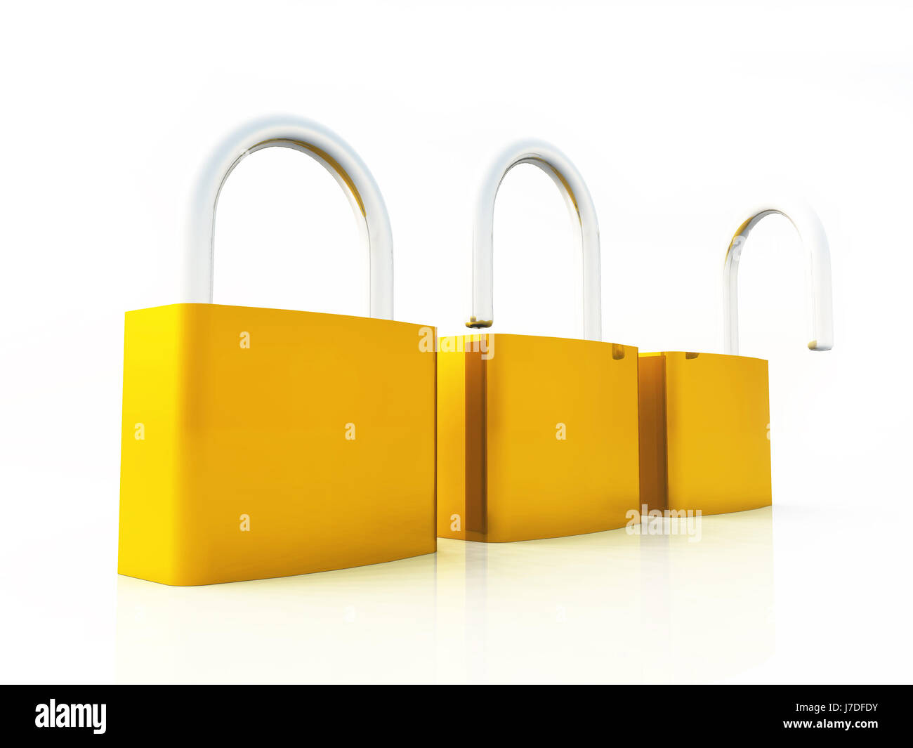 concept - from safe to unsafe - Stock Image
