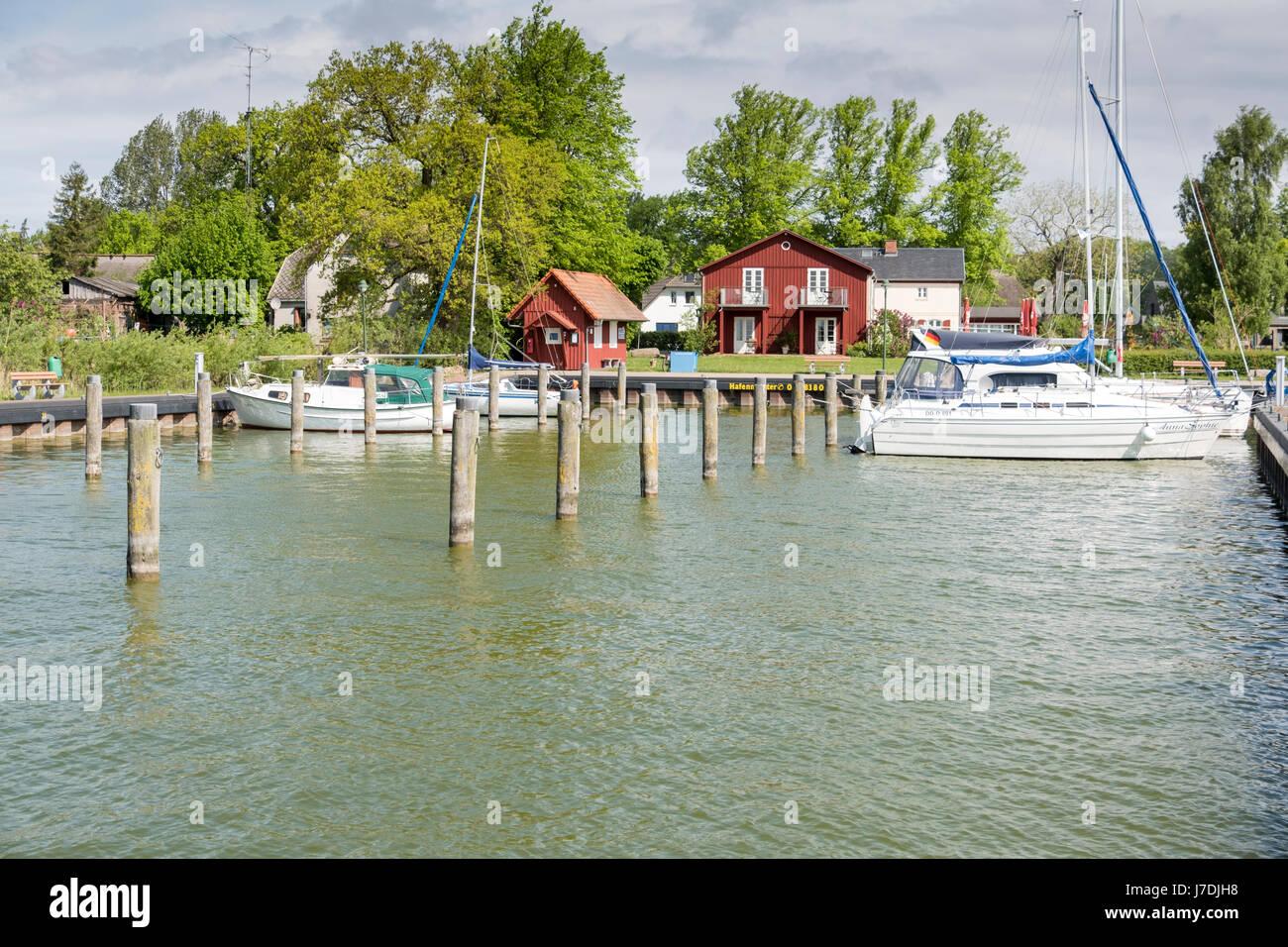 Harbour at Born auf dem Darss, Mecklenburg-Vorpommern, Germany - Stock Image