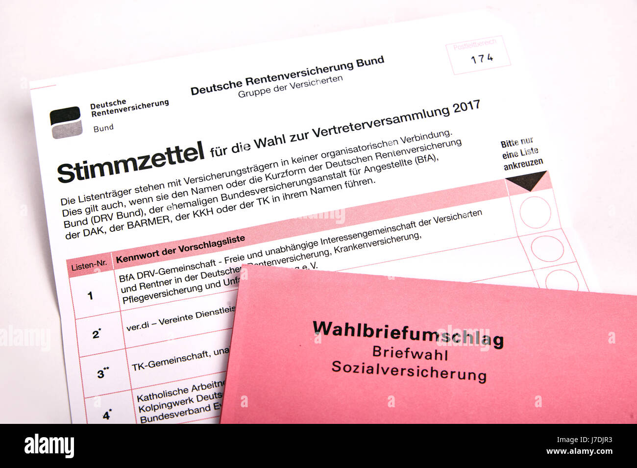 social election in Germany - Sozialwahl Stock Photo