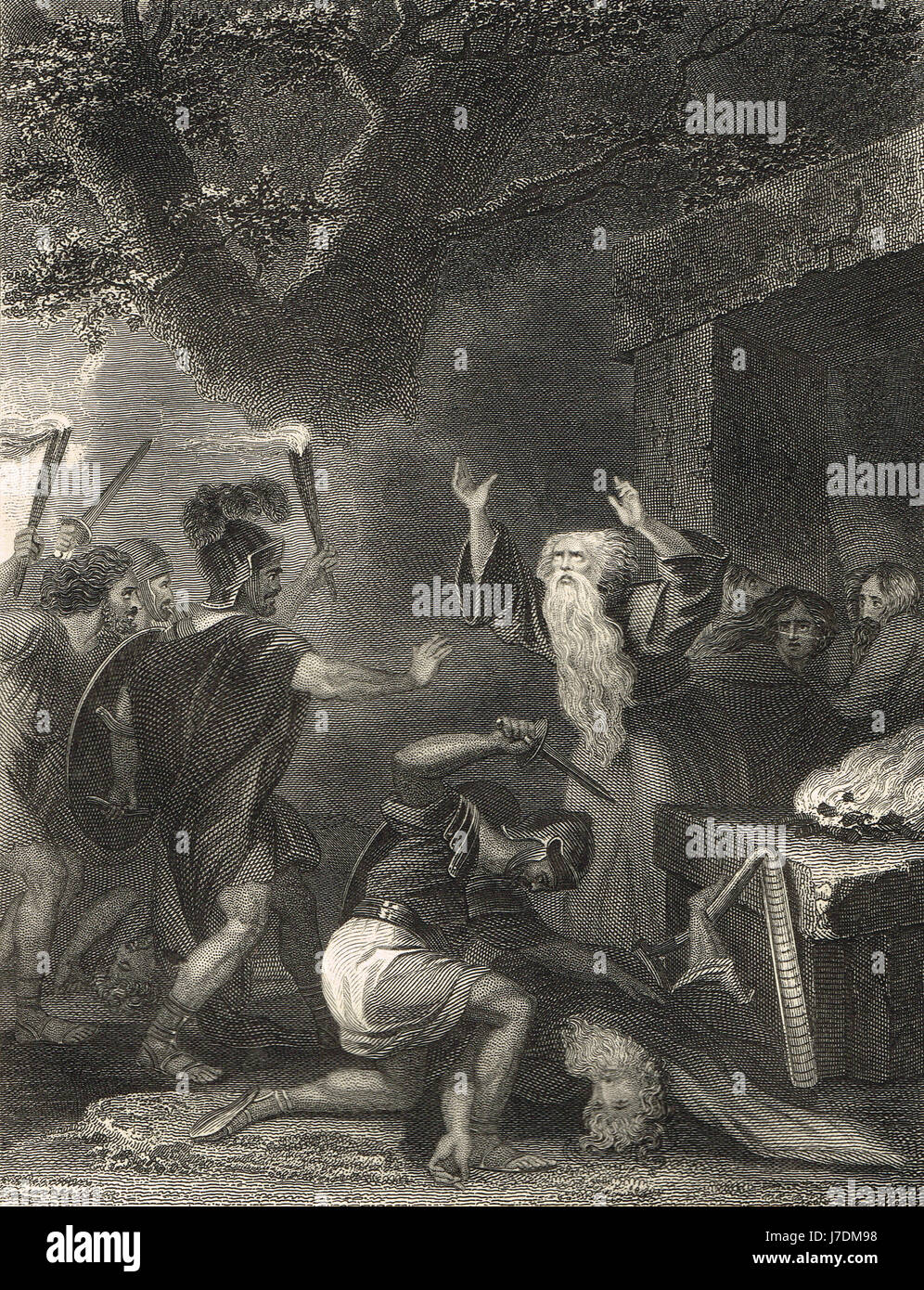 Massacre of the Druids Anglesey AD 60 - Stock Image