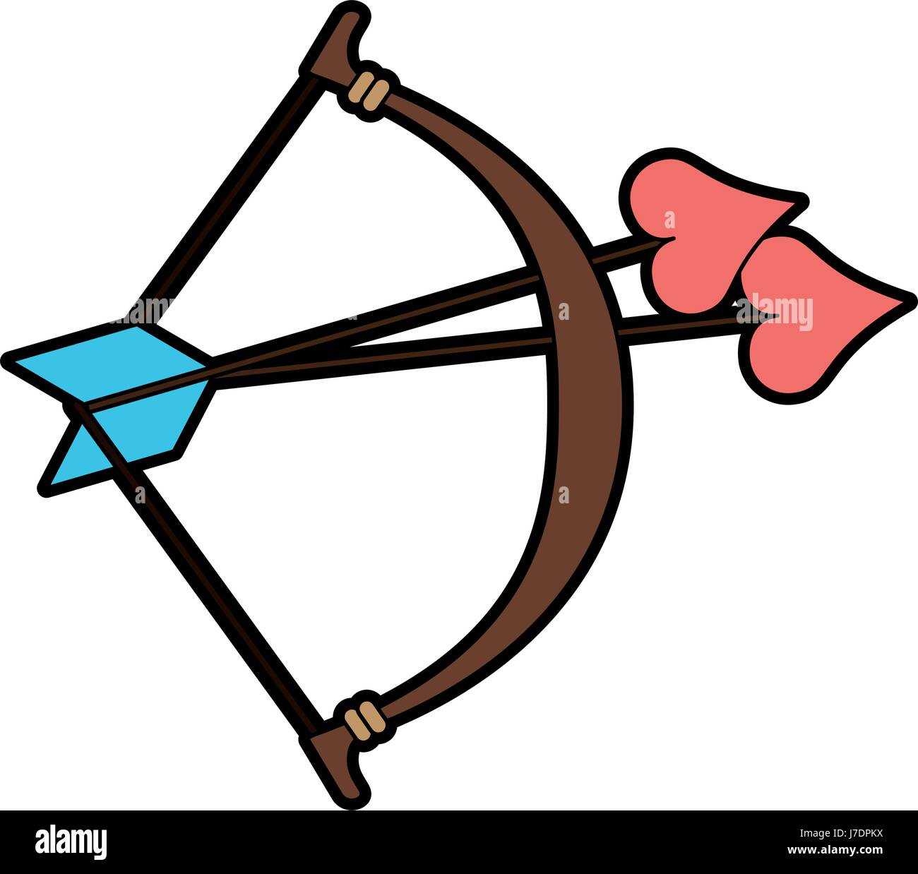 bow and arrow heart cartoon love icon image stock vector art rh alamy com green cartoon bow and arrow green cartoon bow and arrow