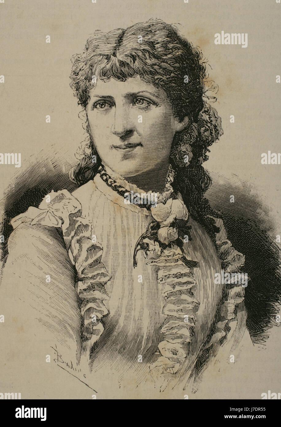 Louise Fastenrath (Goldmann) (1858-1914). German poetess, widow of the German writer Johannes Fastenrath (1858-1914). - Stock Image