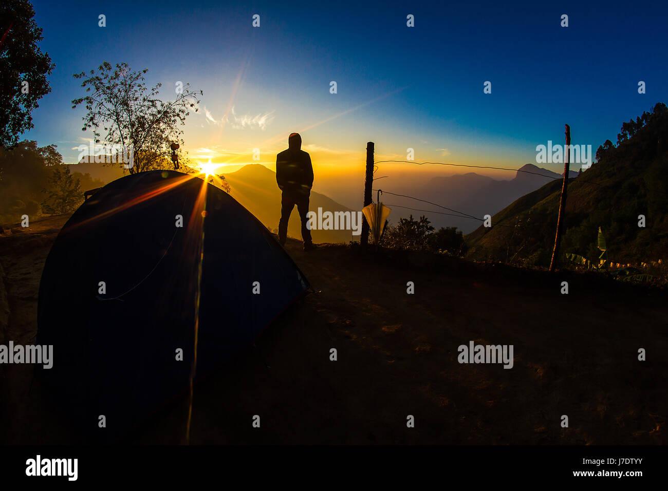Sunrise At Camp Sight