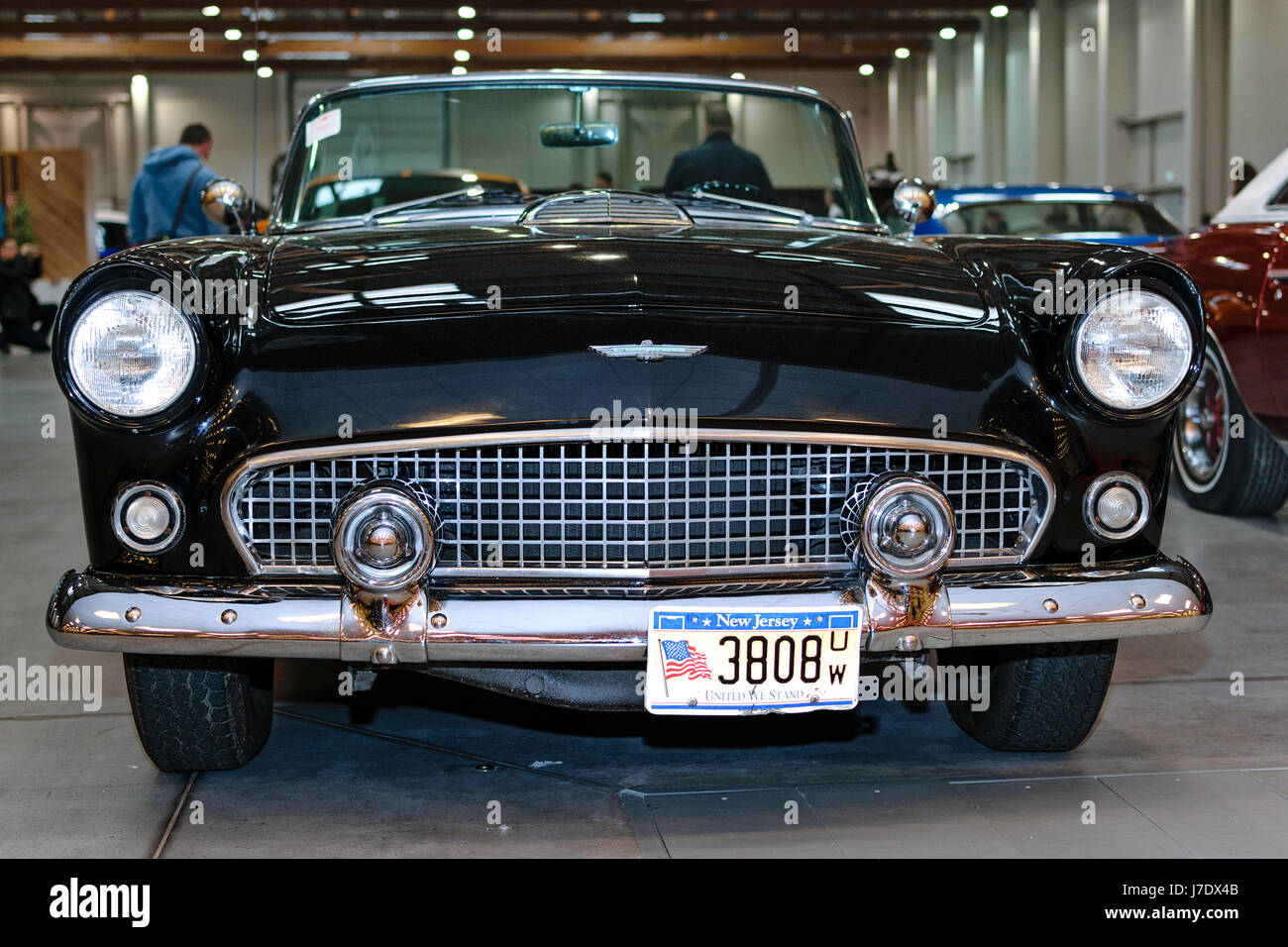 Krakow, Poland, May 21, 2017: Old Ford Thunderbird on display during MotoShow in Krakow . - Stock Image