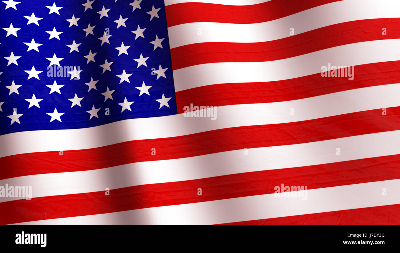 High Resolution Flag: High Resolution American Flag Flowing With Texture Fabric