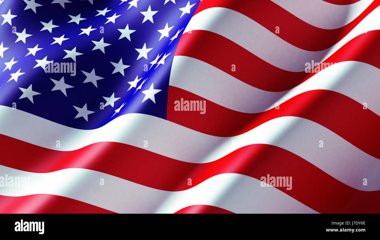High Resolution Flag: High Resolution American Flag Flowing Stock Photo