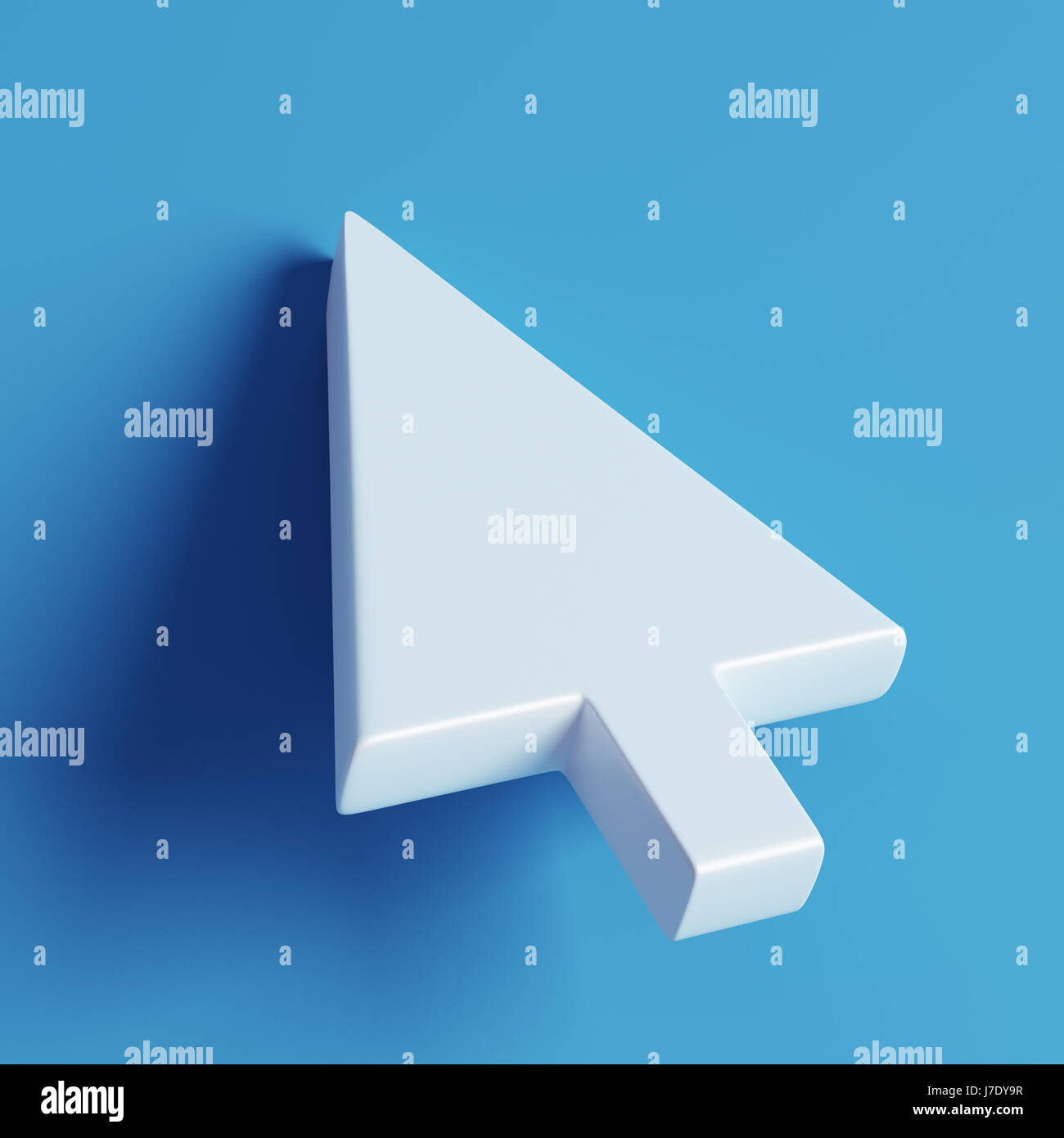 High Resolution Mouse Cursor On Blue Background