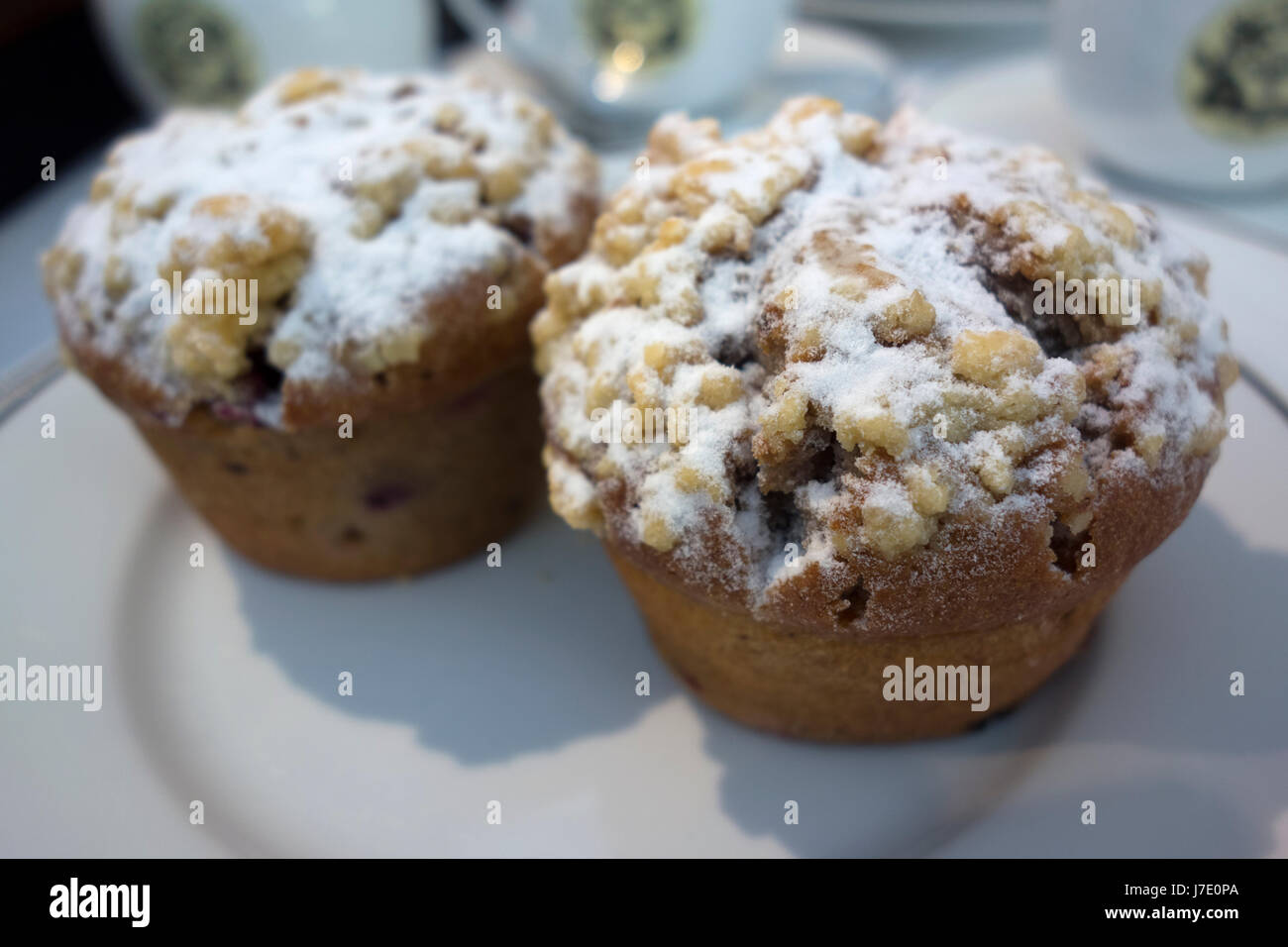 Muffins at Mariage Frères tea room, Paris, France - Stock Image