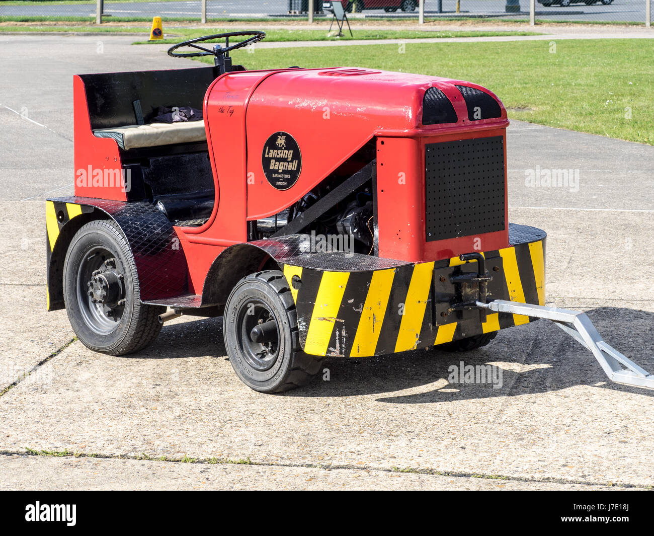 A vintage Lansing Bagnall tug at the Imperial War Museum Duxford in Cambridgeshire, UK - Stock Image