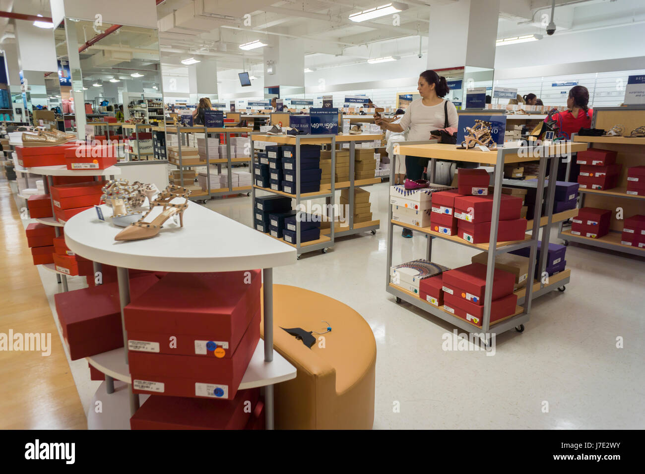Customers In The Womenu0027s Shoe Department In The Brand New Marshalls Store  In Lower Manhattan In New York During Itu0027s Grand Opening On Thursday, May  18, ...