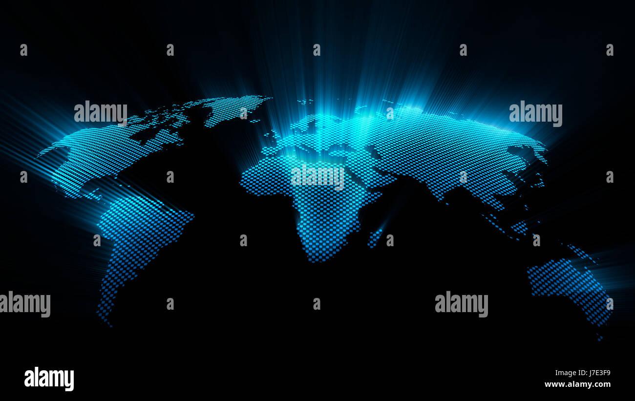 Shining world map on black background stock photo 142295645 alamy shining world map on black background gumiabroncs Images