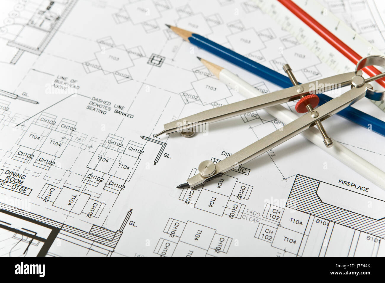 Architectural blueprint background stock photo 142296131 alamy architectural blueprint background malvernweather Images