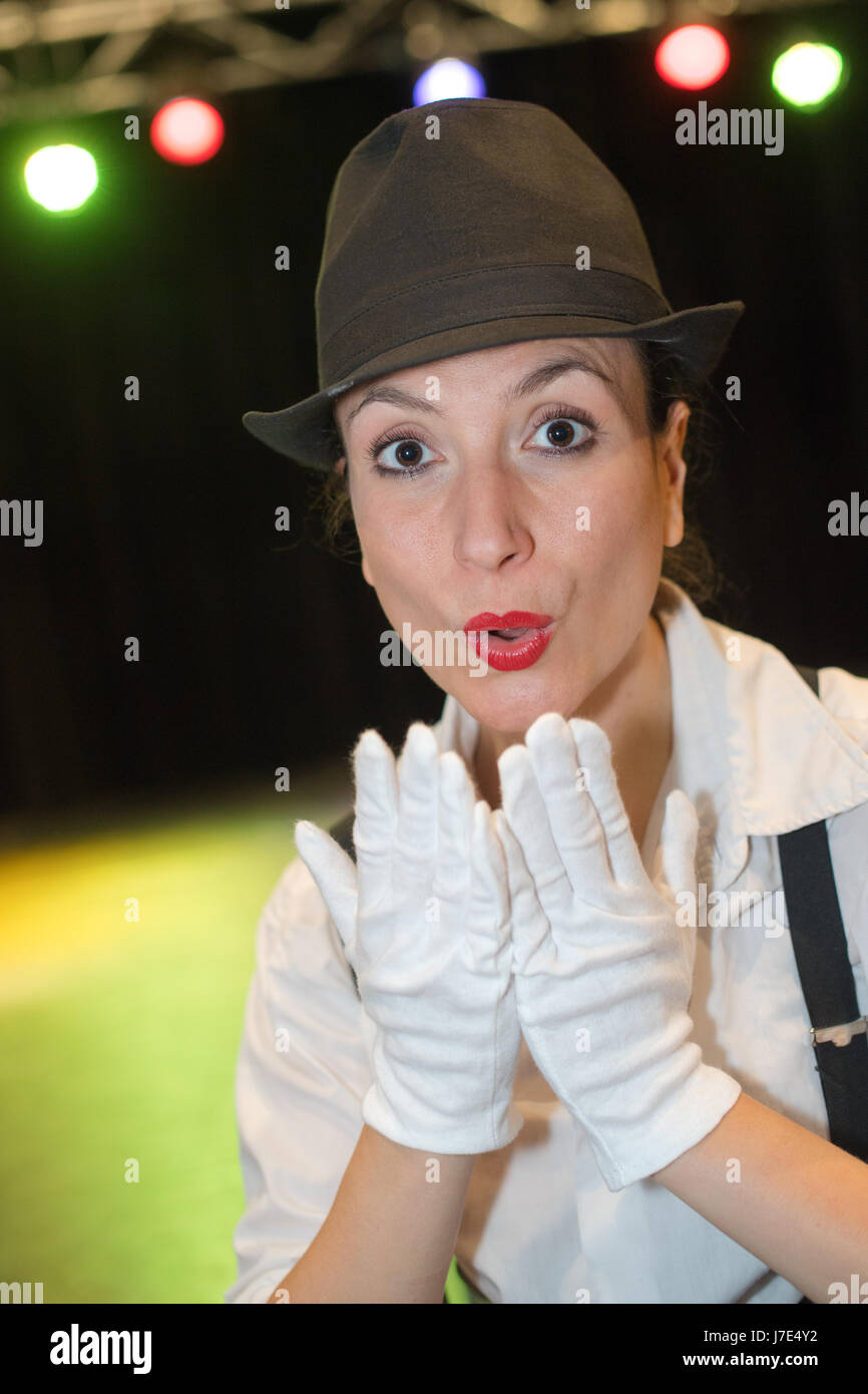 a woman magician - Stock Image