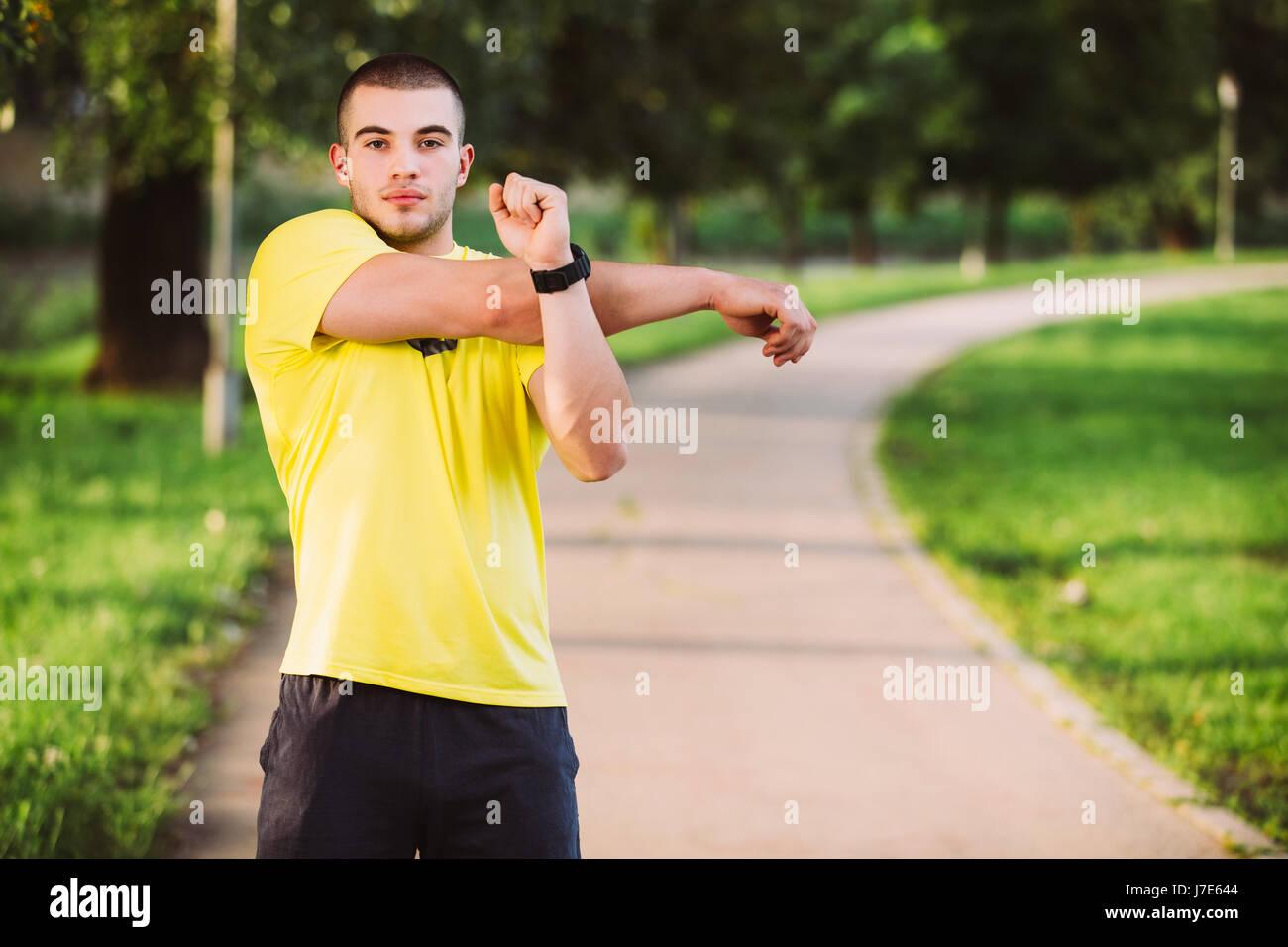 Sporty muscle ramrod bear
