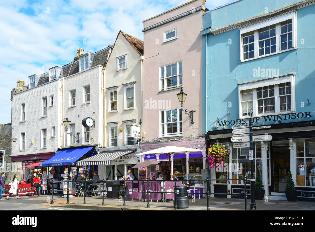 High Street, Windsor, Berkshire, England, United Kingdom - Stock Image