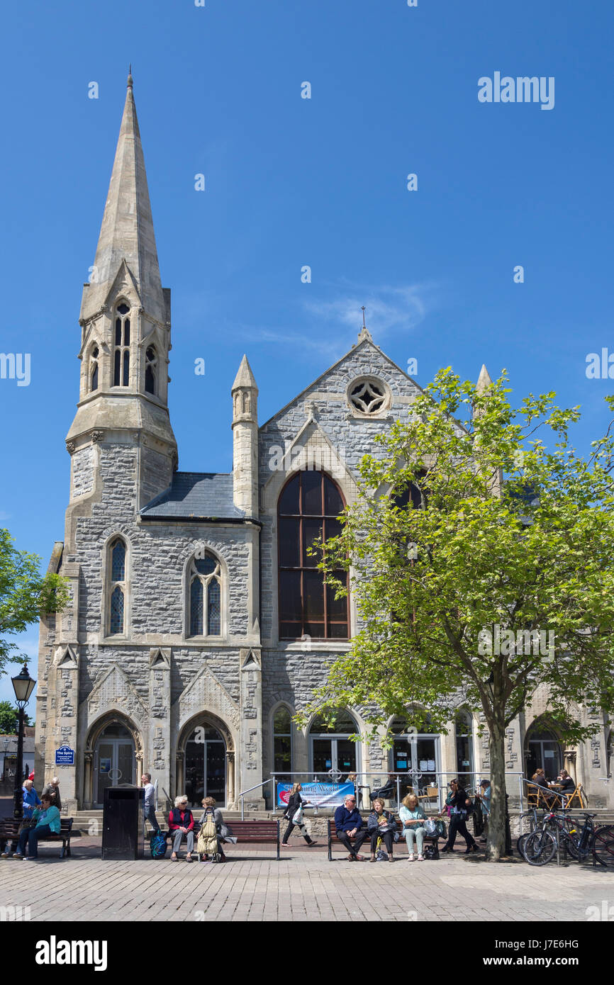The Spire Chapel, High Street, Poole, Dorset, England, United Kingdom - Stock Image