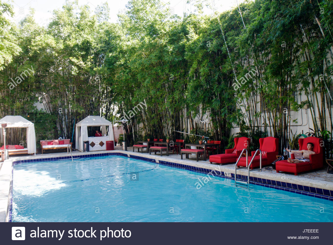 Phenomenal Miami Beach Florida Collins Avenue Catalina Hotel Swimming Gmtry Best Dining Table And Chair Ideas Images Gmtryco