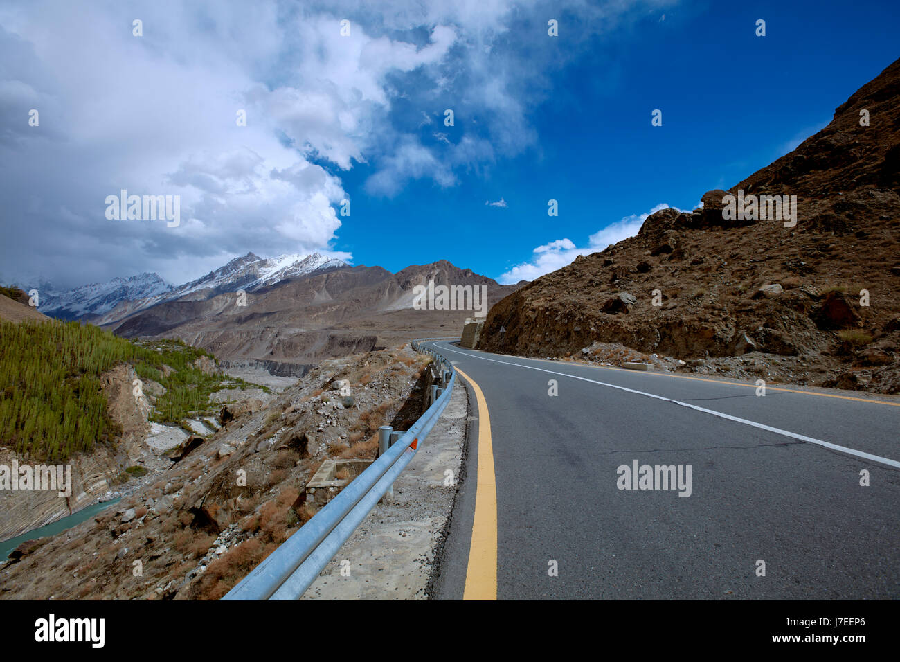 Karakoram Highway - Stock Image
