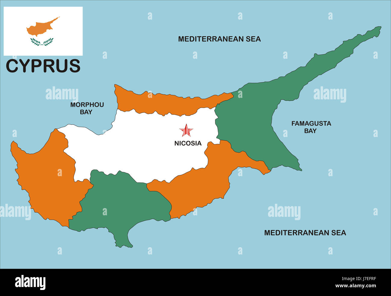 Cyprus Map Atlas Map Of The World Political Illustration Flag